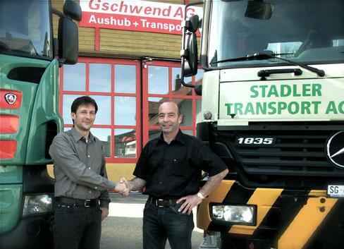 Das Transportunternehmen Jakob Gschwend AG wächst: 2009 kauft es die Stadler Transport AG auf und erweitert damit das eigene Dienstleistungsportfolio.