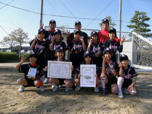 金沢市 森本アップルベリークラブ 女子小学生ソフトボール大会 3位