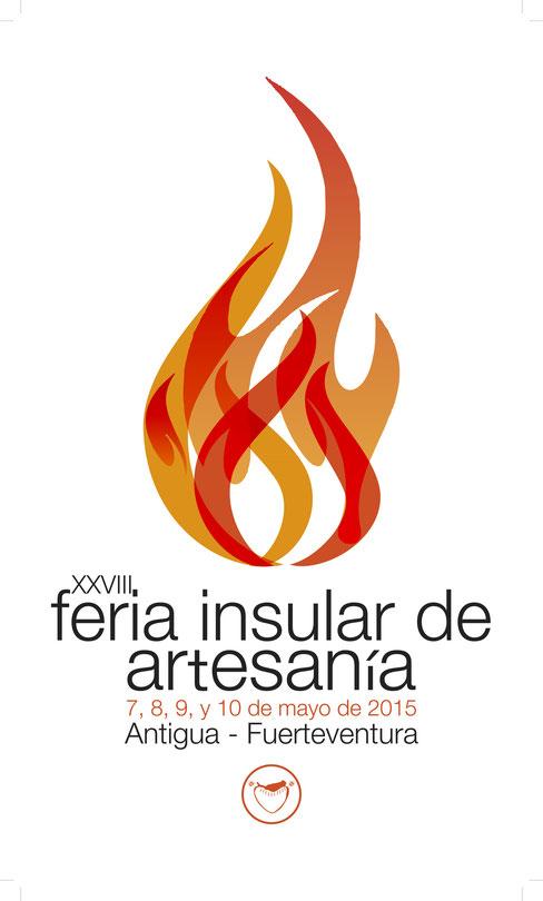Programa y cartel de la Feria Insular de Artesanía en Antigua 2015