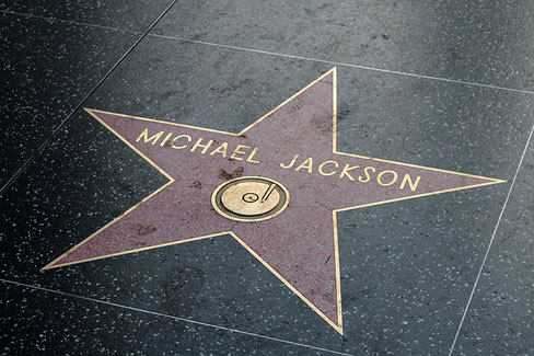 Michael Jackson's Stern am Walk of Fame in Hollywood
