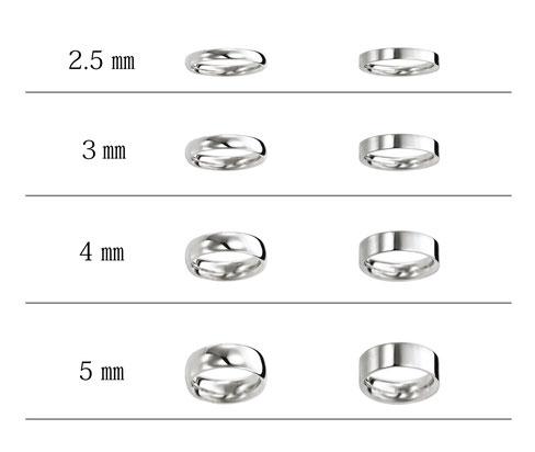 指輪幅サイズ