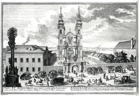 Stich von Salomon Kleiner, Maria Hilf um 1724