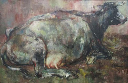 大成瓢吉「乳房」油彩 147×98 ㎝
