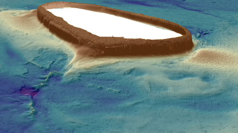 A 3D bathymetry map of Money Shoal in Arafura Marine Park. Credit: Geoscience Australia