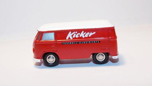"Schuco Piccolo, VWT1 Kasten,""Kicker Sportmagazin"""