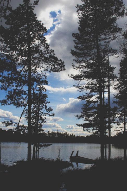 bigousteppes finlande rando lac barque