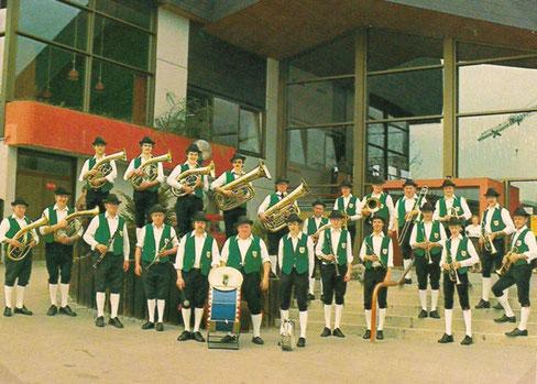 Postkarte der Roßfelder Musikanten