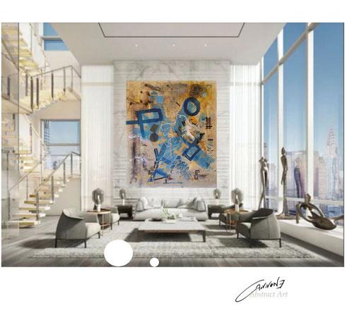 ISTINTO DEL CUORE tecnica mista su tela 200x238 cm. francesco cannone artista pittore abtract artist painter