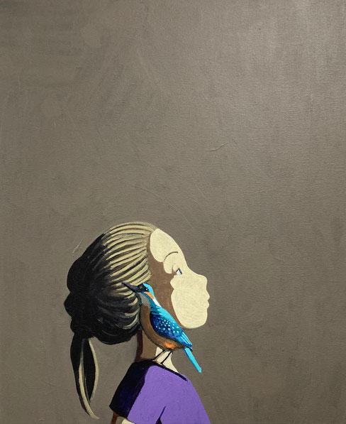 kingfisher - Acryl auf Leinwand, 60x50cm, 2021 | verkauft