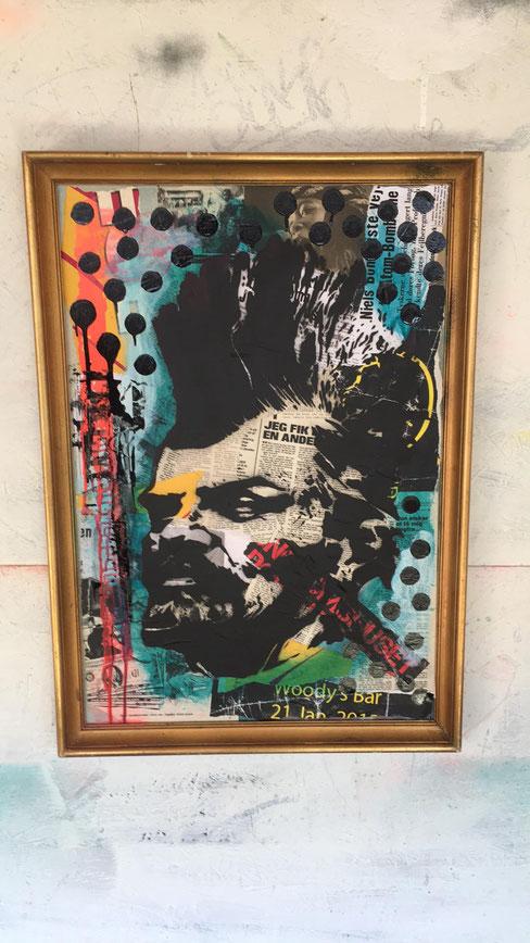 Lenin - Acrylic / spray paint and oil sticks on canvas -