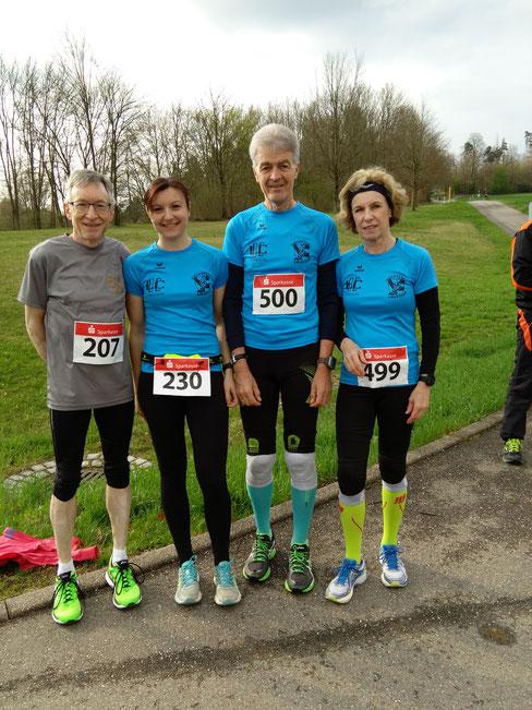 Von links:   Rüdiger Zachmann, Kathrin Hottinger, Wolfgang Aab und  Maria Dittmann
