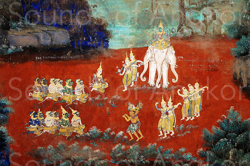 """At the sight of the carnage, Indrajit escaped on his elephant and took the appearance of the Brah Indr; celestial dancers moved with grace to its sides and gods played music with strangely beautiful accents."" Royal Palace, Phnom Penh."