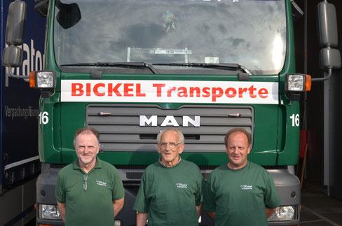 Dieter, Josef und Helmut Bickel
