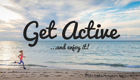 get active running on beach