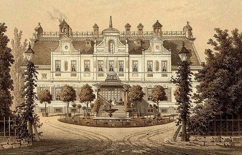 Schloss Rauschendorf um 1860. Sammlung Duncker