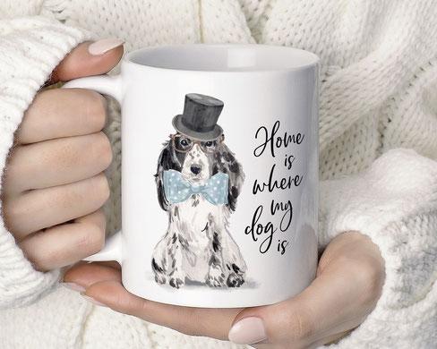 bedruckte Tasse Hund dog cockerspaniel