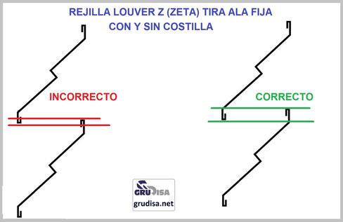 REJILLA LOUVER ZETA (Z) INSTALACIÓN CORRECTA