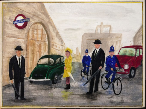 60's London 41cm x 31cm Acrylic on canvas $150 (excluding freight)
