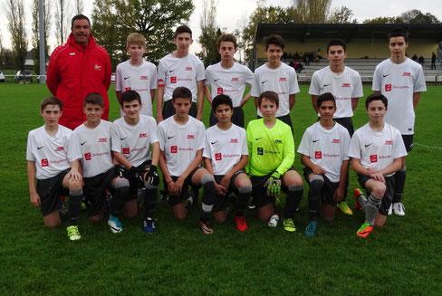 Le groupe U 15 saison 2017 - 2018
