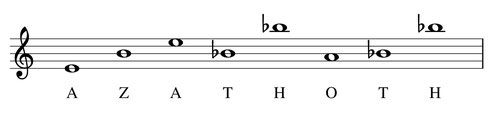 musique partition thème Azathoth