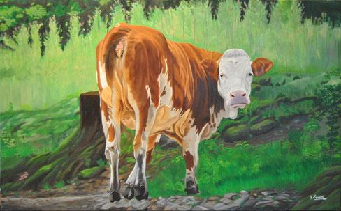 """Die Kuh"" óleo sobre lienzo 130cmx80cm"