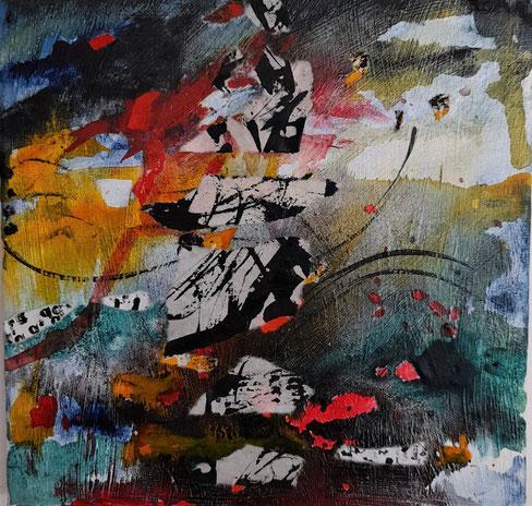 """ Fragmente ""  Collage, Acryltusche, Leinwand"