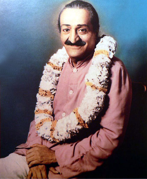 Colourized version of Baba;s portait taken in Washington,DC.