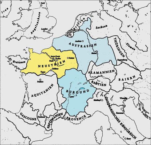 Karte Frankenreich