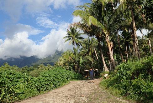 こんな美しくのどかな山中にはフィリピン人の集落が点在しています(バレンシア)