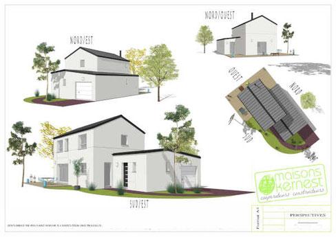 Soyez les bienvenus pour faire une maison avec un constructeur clé en main. Découvrez un plan original pour une maison sur-mesure.