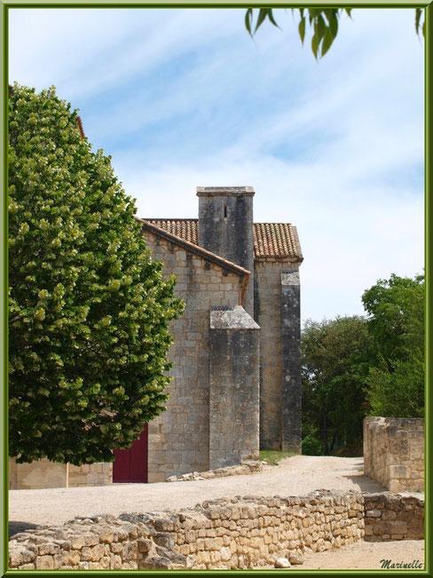 Façade sur le chemin menant à l'entrée principale de l'abbaye de Silvacane avec son tilleul centenaire, Vallée de la Basse Durance (13)