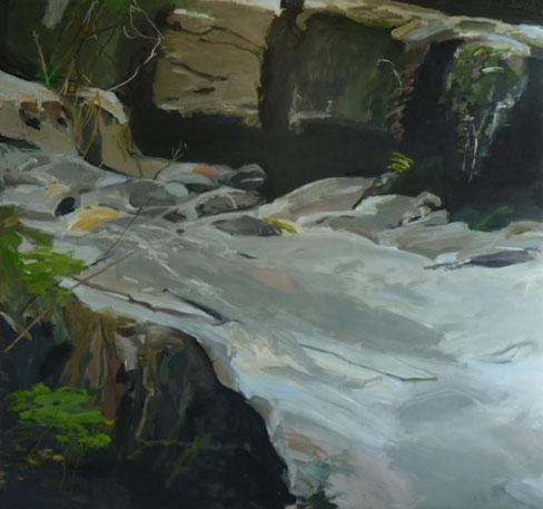 steiniger weg 2012 160 x 150 cm Öl / Leinwand