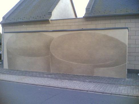Fassadenbild aus Tuffsteinpigment