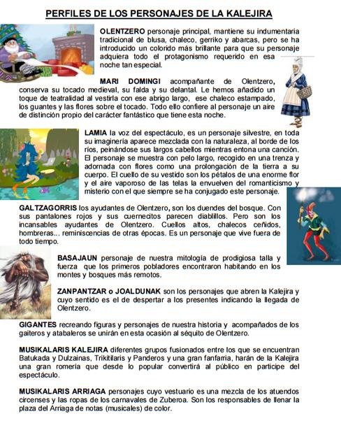 Bilbao Olentzero Personajes kalejira