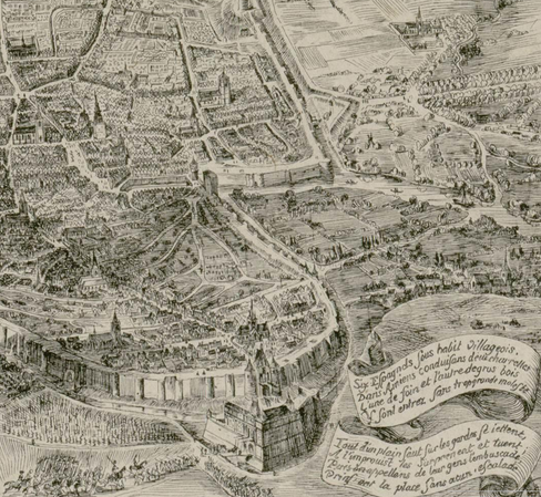 Détail du plan de 1848 de L. Duthoit