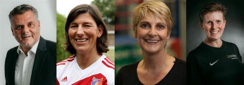 v.l.: Sven Munderloh (Vorsitzender), Verena Willinek (stellvertr. Vorsitzende), Stefanie Hennigfeld (Schatzmeisterin), Christin Senf (Schriftführerin)