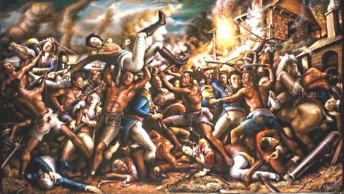 Den første slaveopstand på Saint-Domingue (Haiti) i august 1791