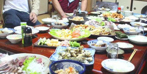小値賀島 民泊 食卓