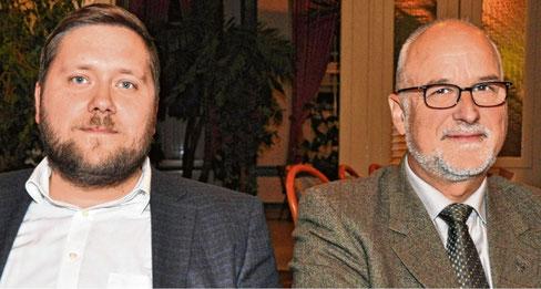 Die neue Doppelspitze in der CDU-Kreisgeschäftsstelle: Johann Hansen (r.) wird Nachfolger von Peter Labendowicz als Kreisgeschäftsführer, Marko Förster sein Stellvertreter und Pressesprecher.