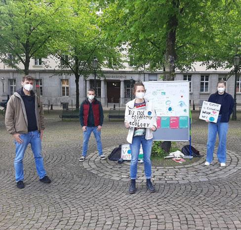 Public Climate School auf dem Laurentius-Platz (Foto Social Media AG Students For Future)