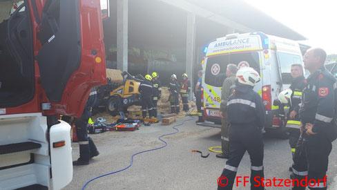 Feuerwehr; Blaulicht; FF Statzendorf; PKW; Unfall; Rottersdorf;