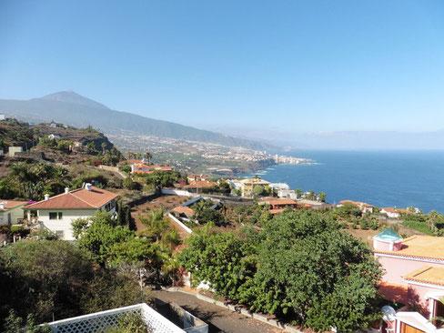 Einmaliger Meerblick und Blick zum Teide vom Balkon