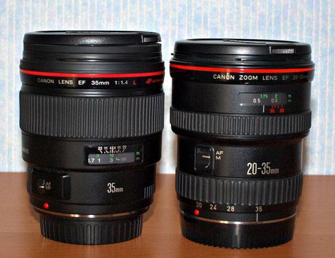 Рядом с Canon EF 35/1.4 L USM