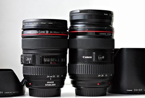 Canon EF 24-105/4 рядом с EF 24-70/2.8