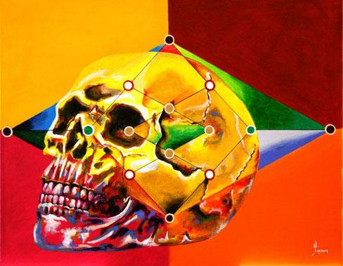 Gemälde von Yuma, Bild von Yuma-Art, Totenkopf, Totenkopf zeichnen, Totenkopf malen, Künstler aus Kiel