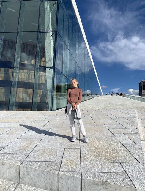 Franka konnte in der Einsatzstelle schnell Norwegisch lernen