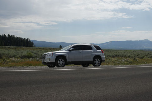 GMC Mietwagen in den USA im Grand Teton National Park