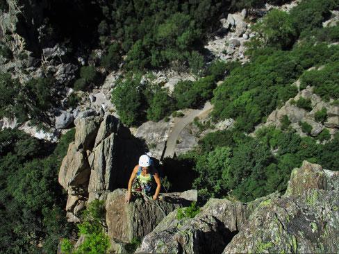 Dernière longueur du george Vergue....bientot le sommet !