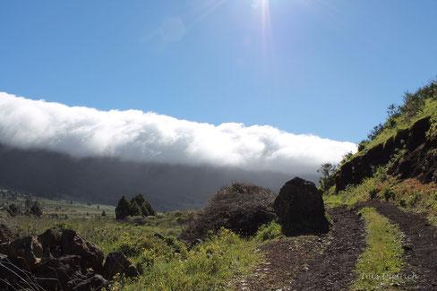 Cascada de nubes, El Paso