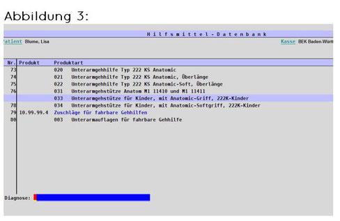 abasoft EVA Praxissoftware RPT Diagnoseauswahl im Rezept